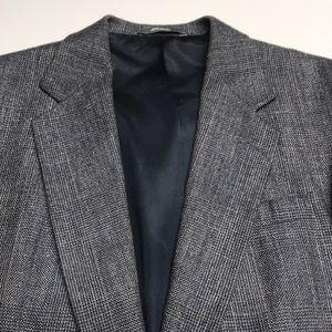 HAGGAR Mens 44R Gray Sport Coat Blazer